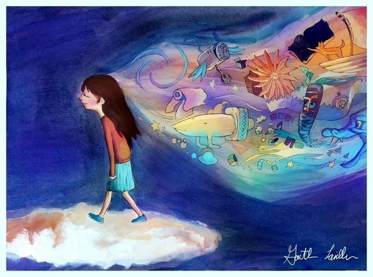 Imagination - illustration, gouache - artstory | ello