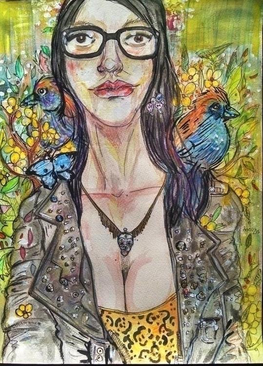illustration, drawing, watercolor - orduzleon | ello