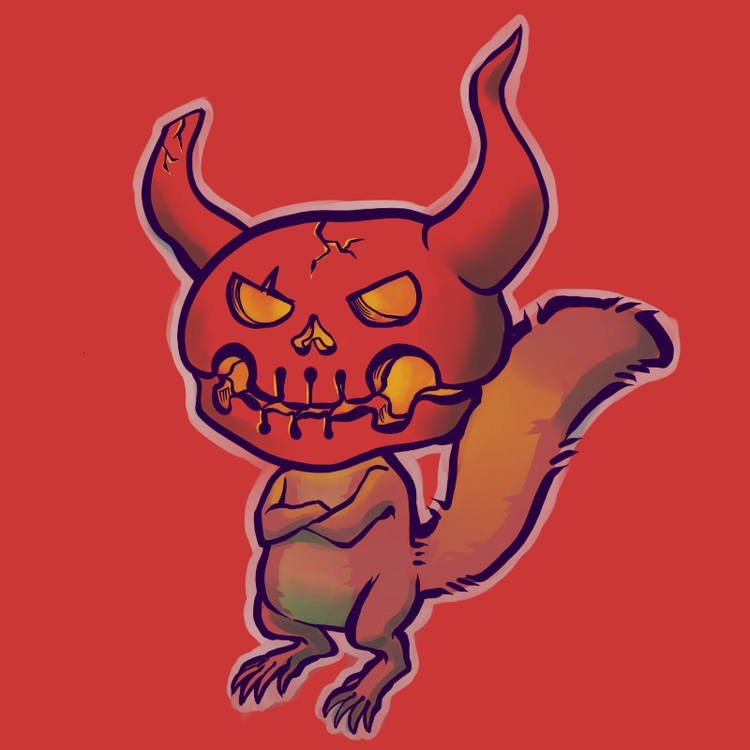 Halloween squirrel - halloween, demon - brunodesn | ello