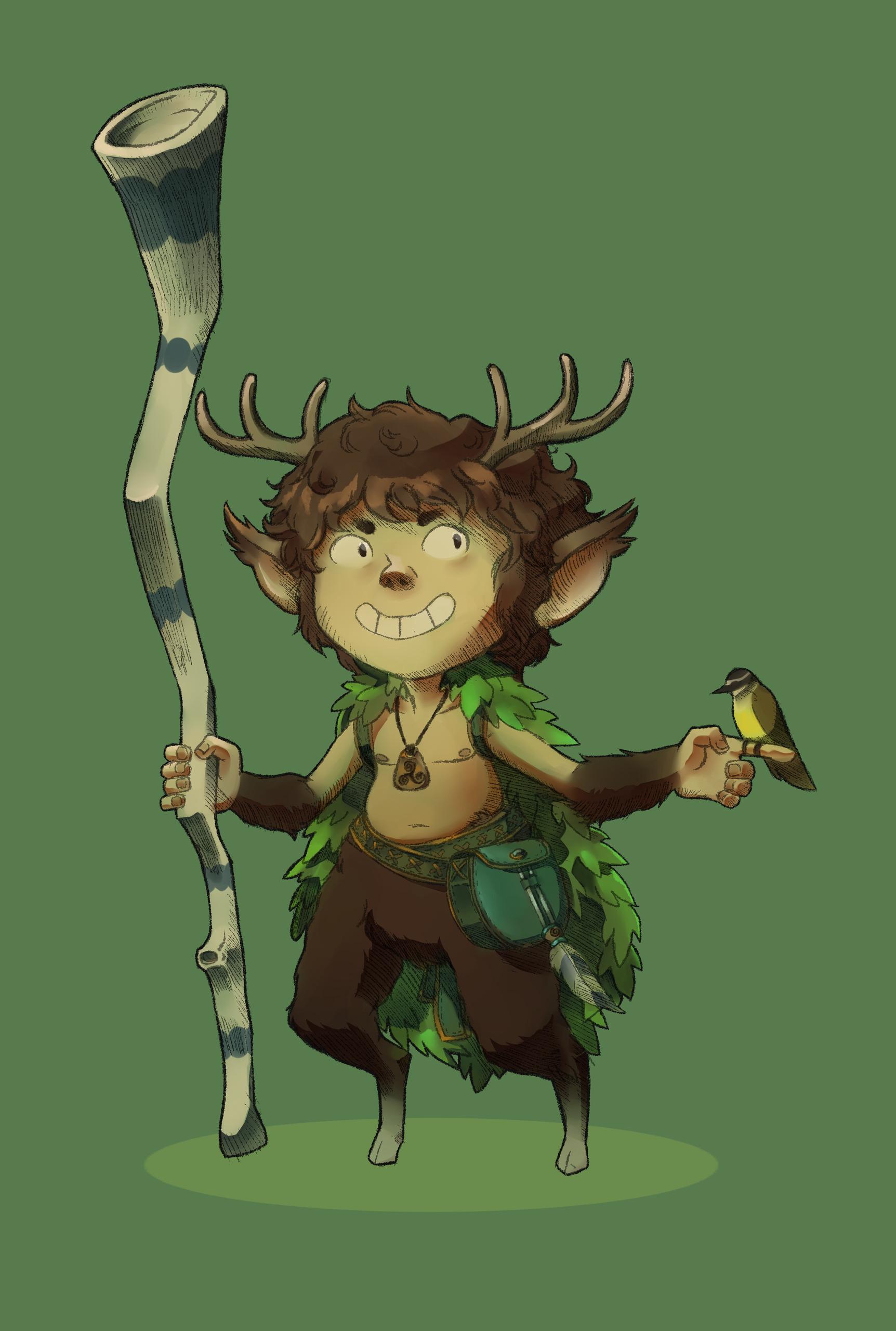 Druid Faun - faun, druid, fauno - brunodesn | ello