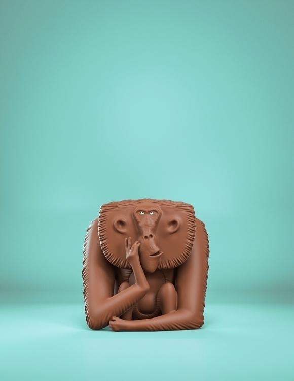 Monkey Inspired work Eran Alboh - art15 | ello