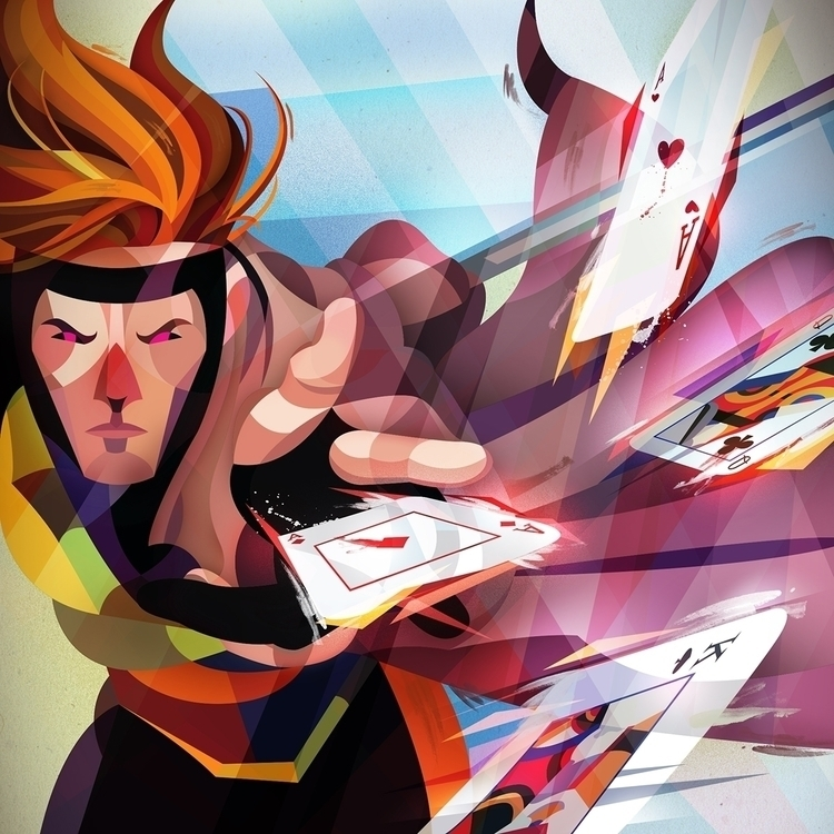 Gambit illustration - xmen, digitalart - erikdgmx | ello