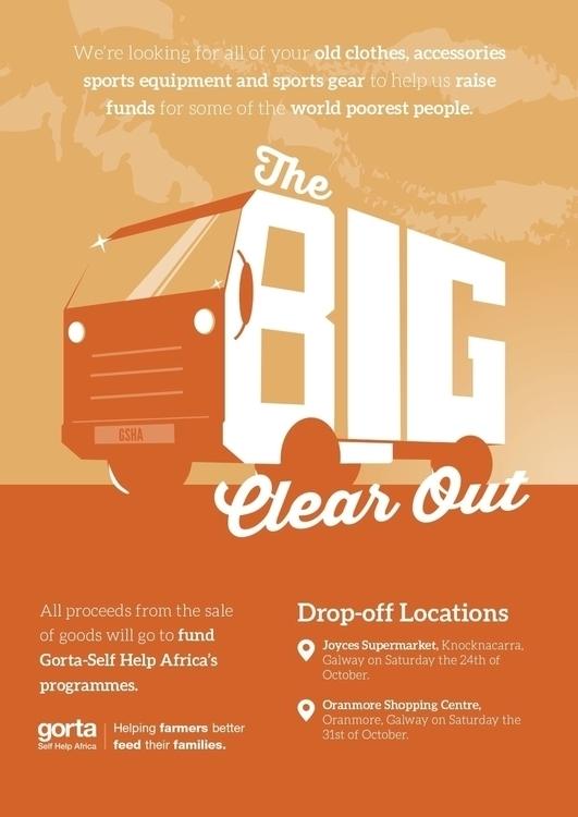 Poster charity donation drive - illustration - pbirch | ello
