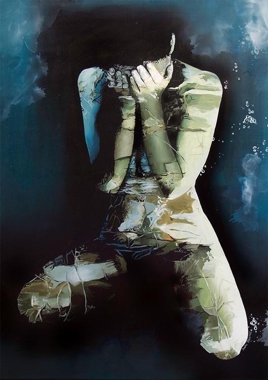 Eclat 2 , oil canvas, 72x93cm - painting - audeibanez | ello