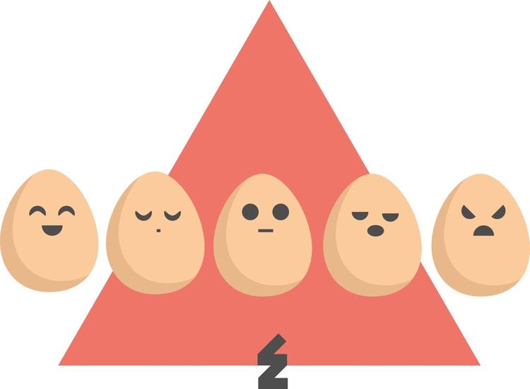 Eggs - 2015:copyright - eggs, flatdesign - eeloneor | ello