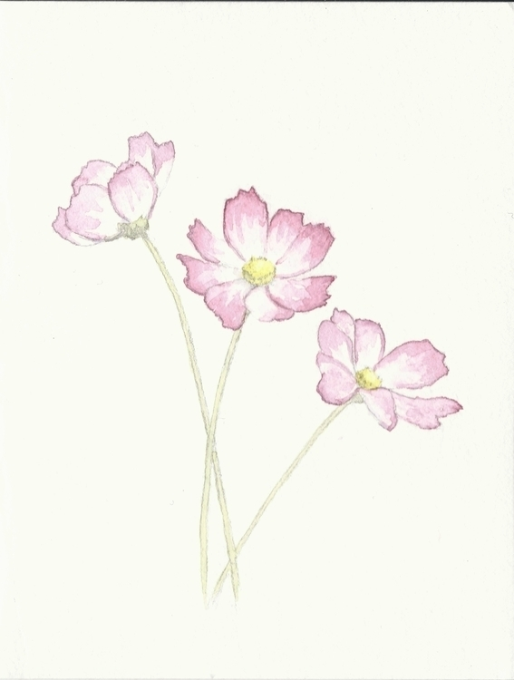 Floral greeting card design - painting - rachelbishop | ello