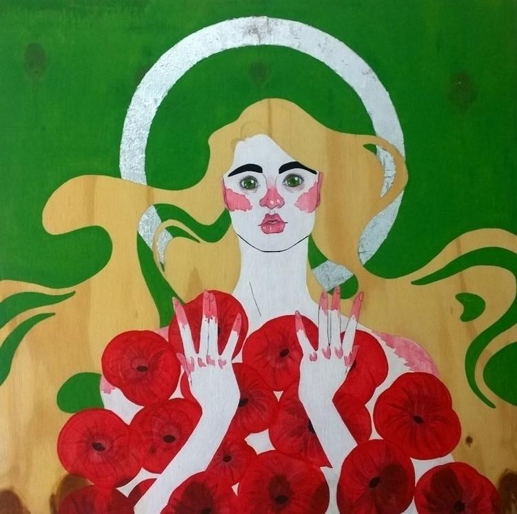 Poppy - illustration, painting - jennifervolkman | ello