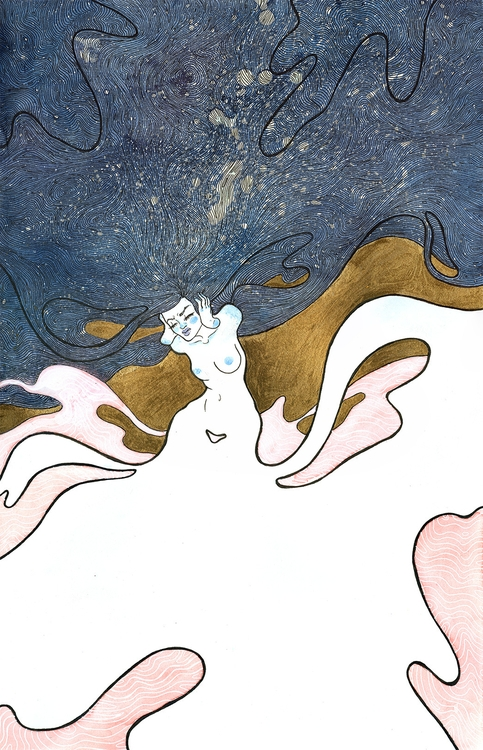 Ghostie - watercolor, painting, illustration - jennifervolkman | ello