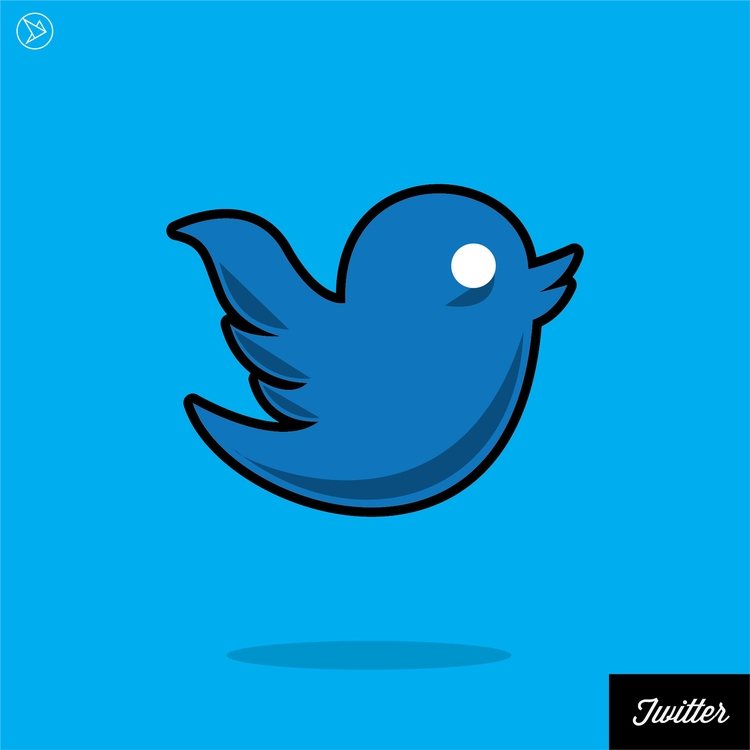 Stoned Twitter Logo - illustration - superslap15 | ello