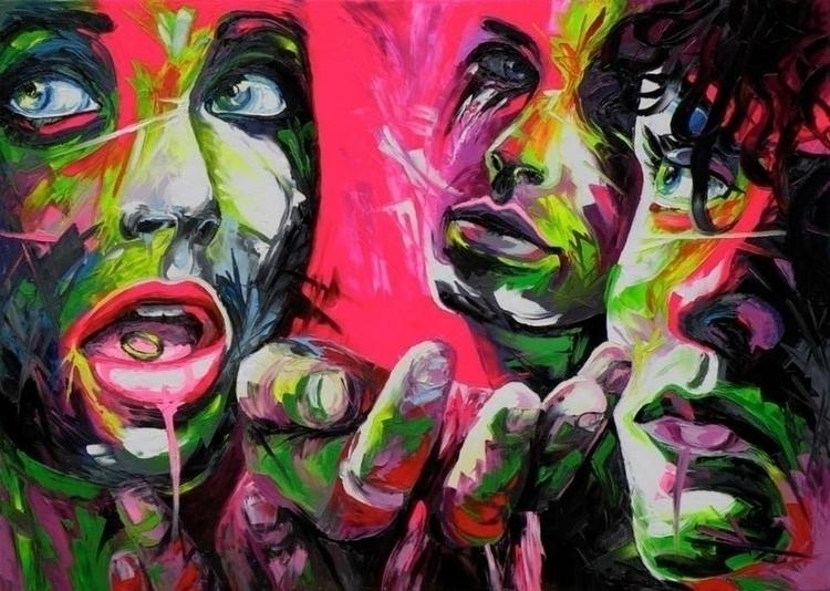 ring - painting, pop-art, fluo-art - corentin-7918 | ello