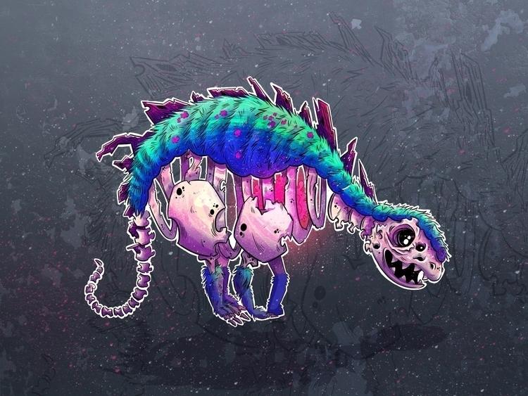 Living Fossil - dinosaur, illustration - rachelalderson | ello