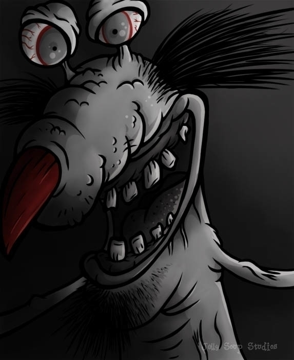 Gromble Aaahh! Real Monsters sh - jellysoupstudios | ello