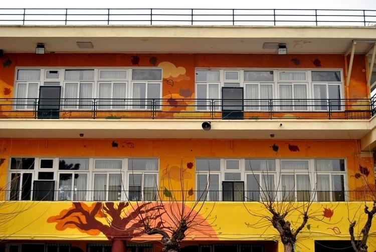 autumn - mural, school, kaiman, athens - kaiman-6057 | ello