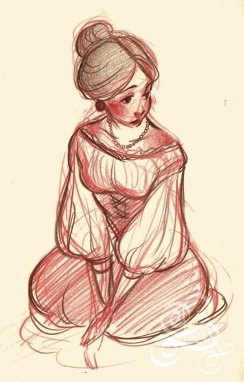 pencil sketch involving traditi - illuystration | ello