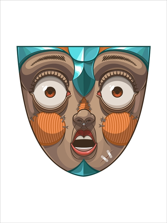 Mask1 - illustration, characterdesign - artem_cowy | ello