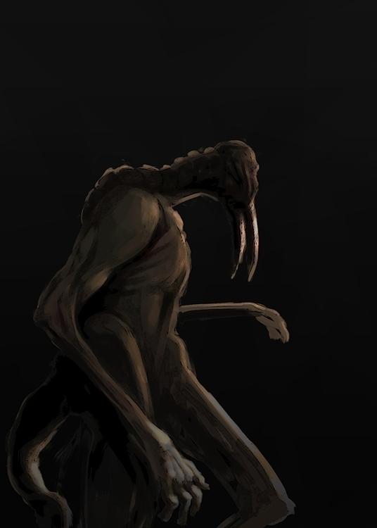 Creepy - creepy, creature, darkness - alecs-1191 | ello