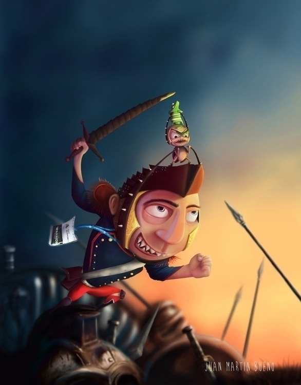 Warrior THU challenge 2014 - Ilustracion - jumabu | ello