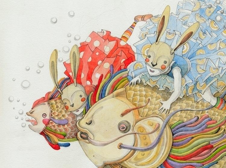 colors, fishes, rabbits, animals - linakusaite | ello