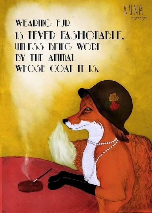 Antifur poster - antifur, illustration - kunarysuje | ello