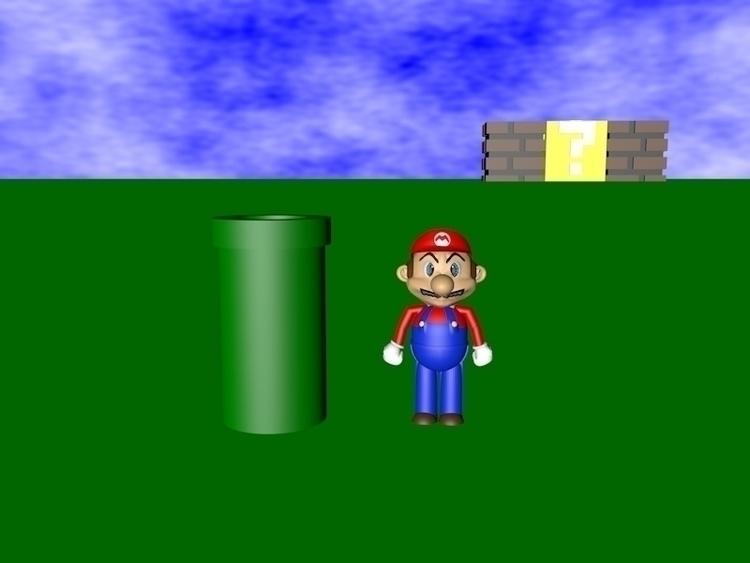3D design Mario world created C - klocquiao   ello