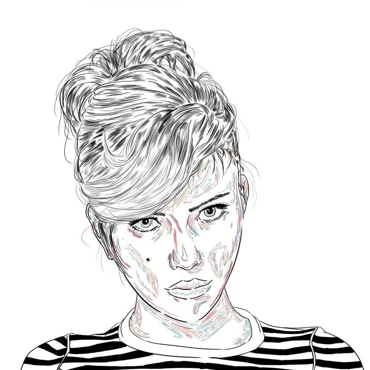 Scarlet - illustration, portrait - pesim0 | ello