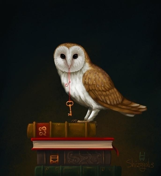 Key Knowledge - illustration, owl - pushkina | ello