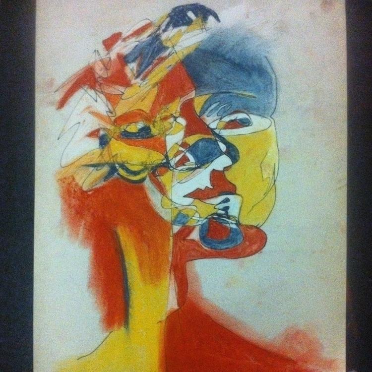 Blind contour pen pastel - blindcontour - anastasiac-8446 | ello