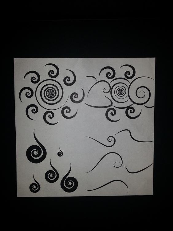 Abstract art 4 weather symbols  - klocquiao   ello