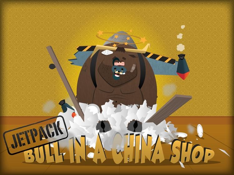 Splash screen Jetpack Bull Chin - thepetersimon | ello