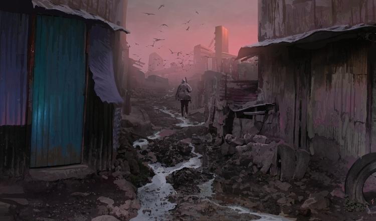 Wanderer - illustration, painting - albertovangelista | ello