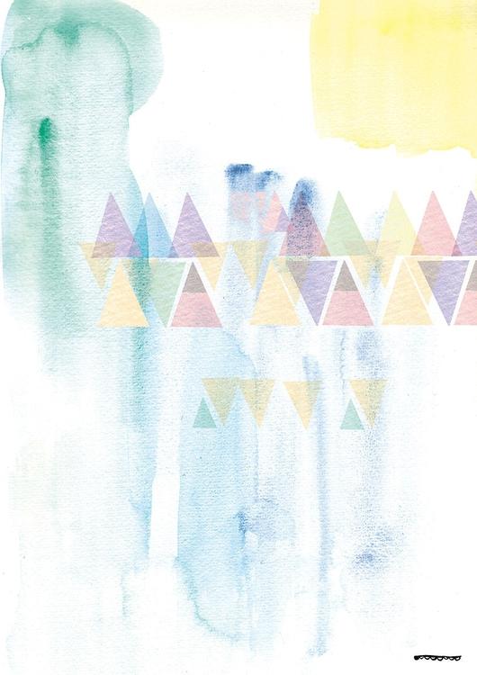 Triangles - illustration, aquarelle - floriane-9695 | ello