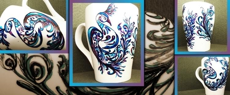 Peacock Feather 1 - painting, illustration - aiakira | ello