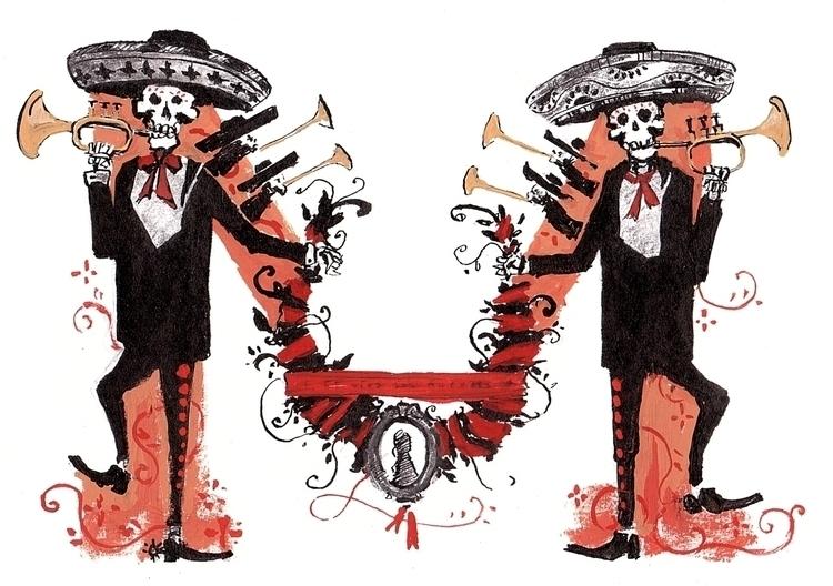 Dios los muertos - illustration - leo_partus | ello