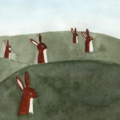 bunnies, bunny, brown, green - robincottage | ello