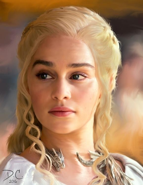 Daenerys Targaryen - illustration - dalezxthian | ello