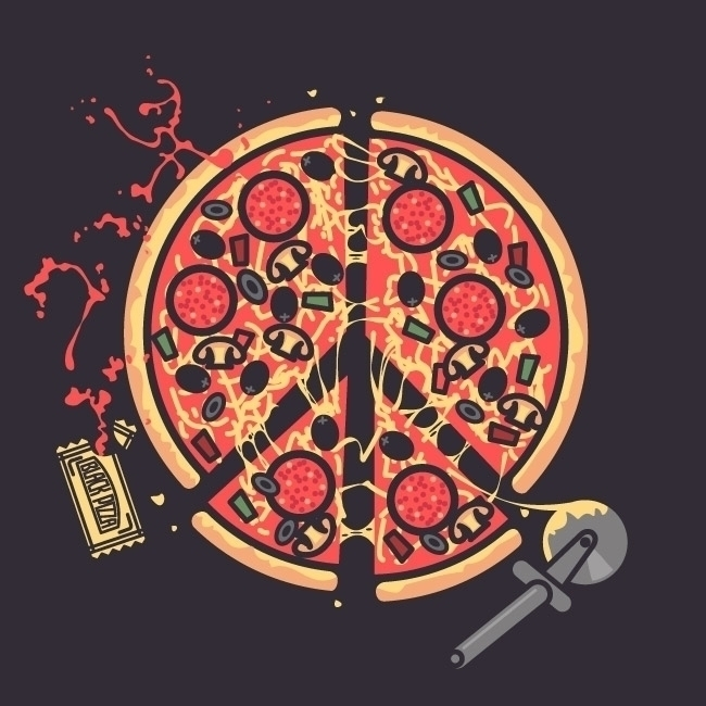 Pizz''Love - pizza, food, foodillustration - atomikestudio | ello