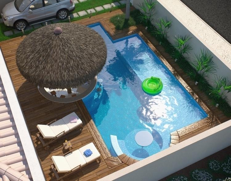 corona, pool, vacation, realistic - felipedias-1272 | ello