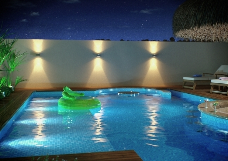corona, pool, night, 3d - felipedias-1272 | ello