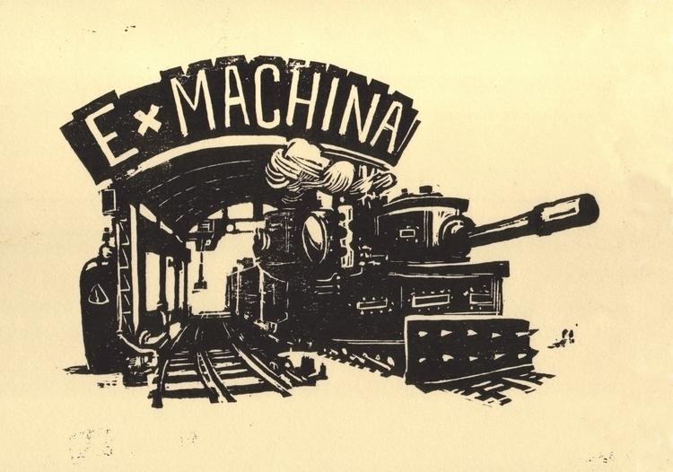 Machina - linocut, ExMachina, panzer - leo_partus | ello