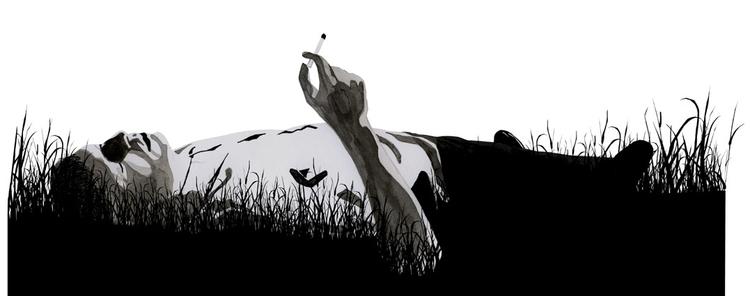 guy, sleeping, smoking, cigarette - robincottage | ello