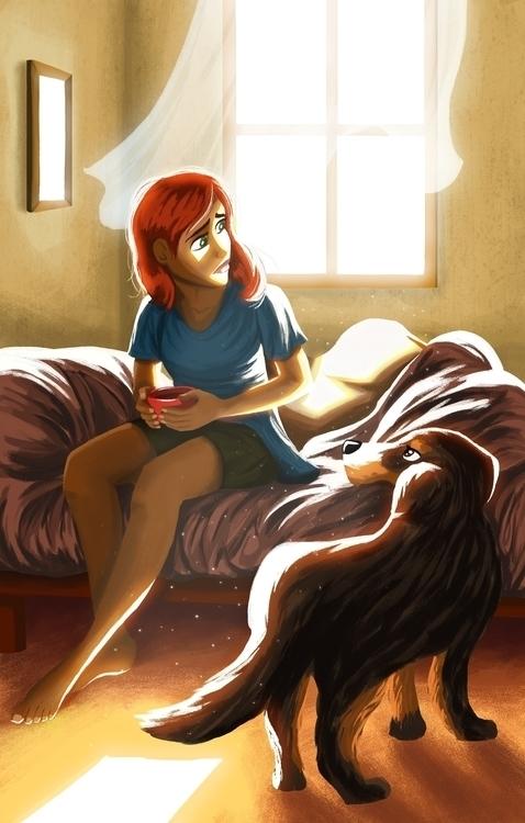 morning coffee, love regrets. i - dominicdraws   ello