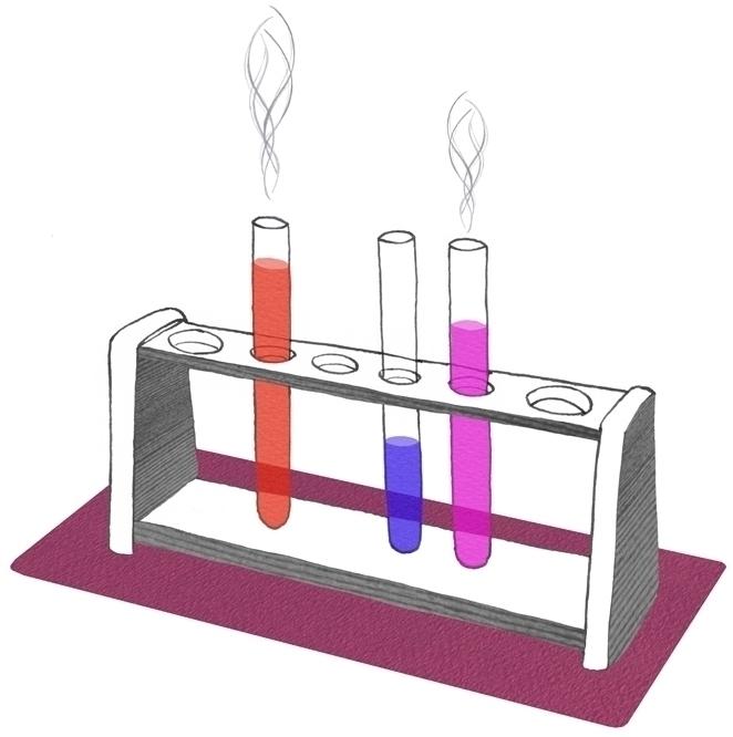 illustration, collage, chemistry - robincottage | ello