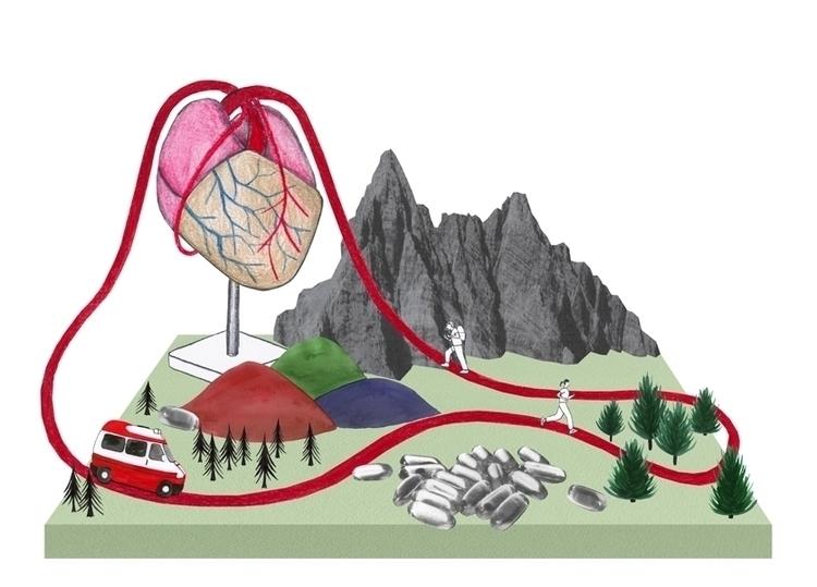 collage, heart, mountain, pills - robincottage | ello