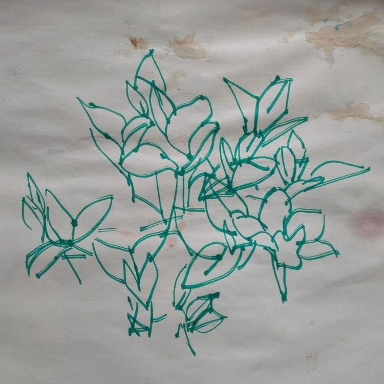 green, Plants, markers, Paper - monicasamson   ello
