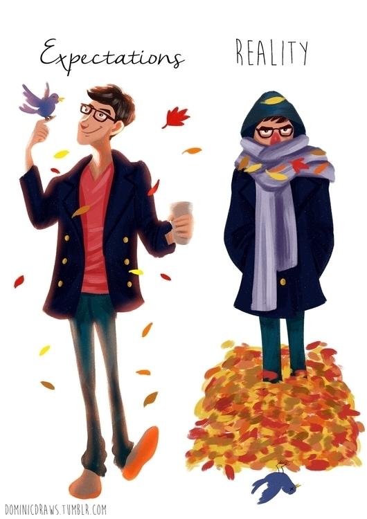 Autumn Melbourne joy behold - illustration - dominicdraws | ello