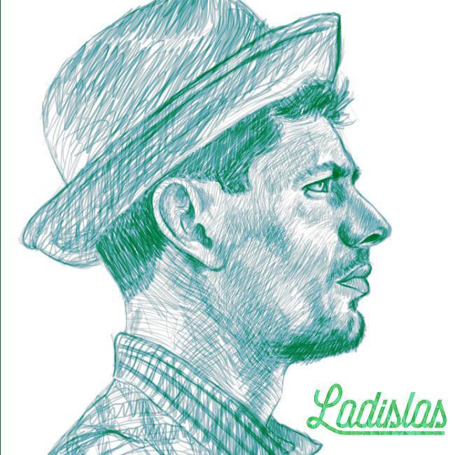 initial sketch digital tribute  - ladislas-2174 | ello
