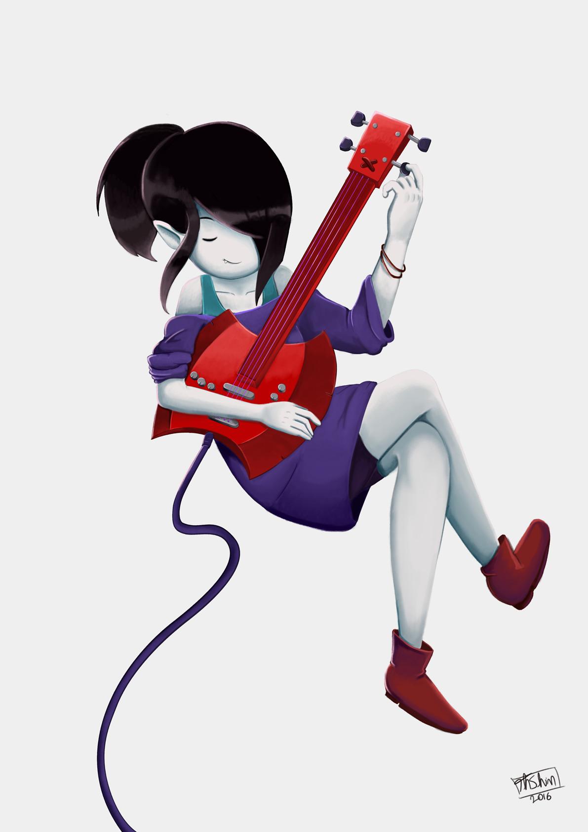 Marceline Vampire Queen fanart - thiagoshiniti | ello