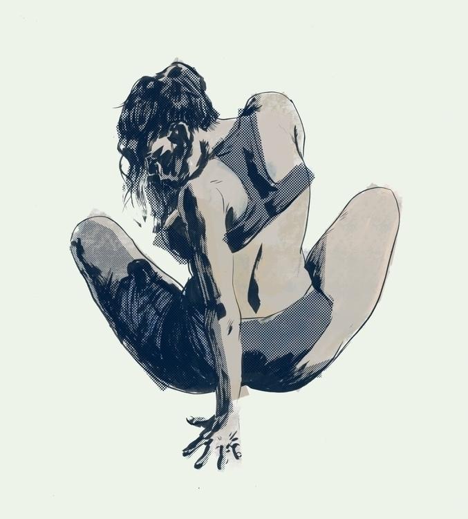 Leftover ink drawing | Ink Phot - robertsammelin-9753 | ello