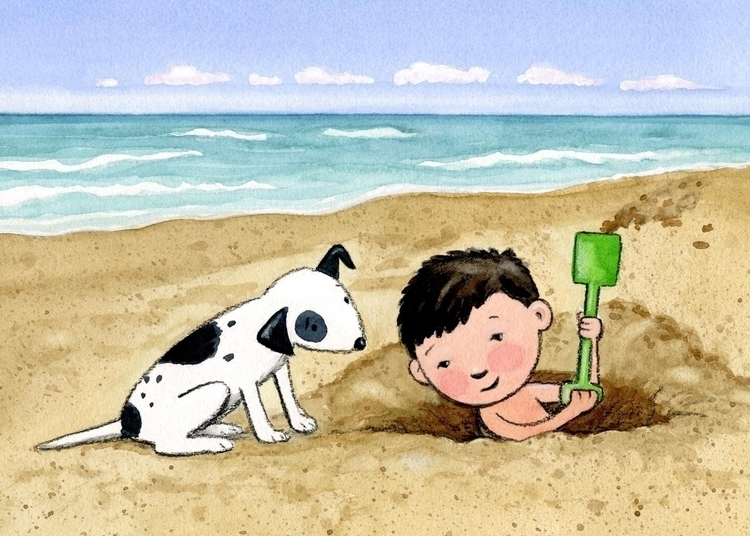 beach, summer, dog, boy, fun - janetmcdonnell | ello