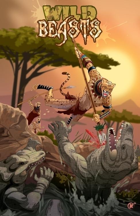 Wild Beasts Created Adobe Illus - universek-1349 | ello